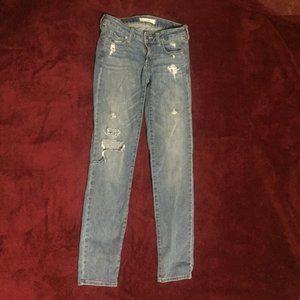 Bullhead Black Super Skinny Ripped Jeans Size 3